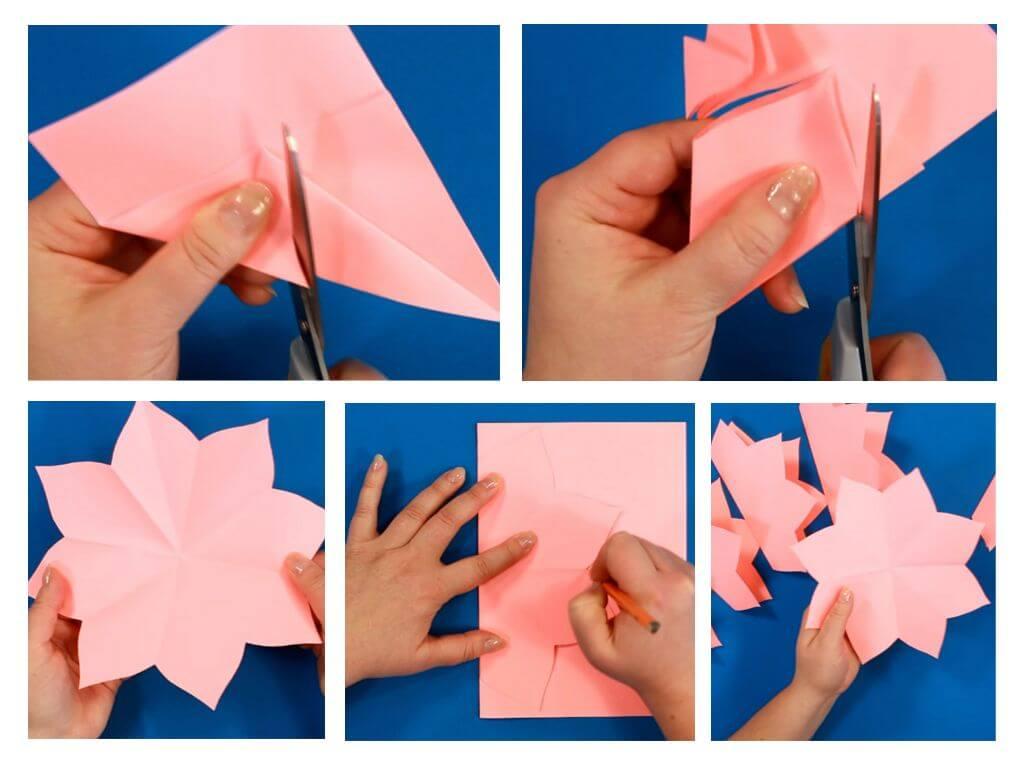 открытка цветок 3д из бумаги пошагово