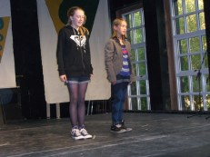 Skerries Got Talent Auditions on stage