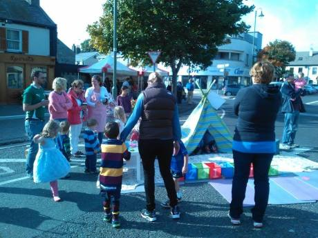 Clap Handies were at the street party, too. They are starting regular sessions in Skerries Harps on Wed, 08 October 2015. Image provided by Clap Handies. See claphandies.com