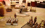 Even the Hammerers wan't to join in for the feast and declares a charge into the pinned down Knights...