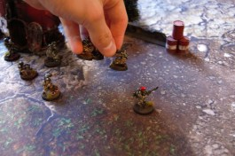A couple of smart missiles also hit home on the Droptrooper infantry squad, inflicting a total of 8 casualties, the remaining two soldiers deserts from the battlefield due to a failed morale test.