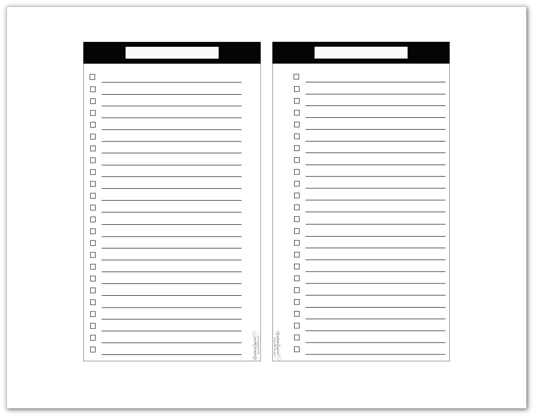 Black And White Master To Do List Printables In Three Sizes