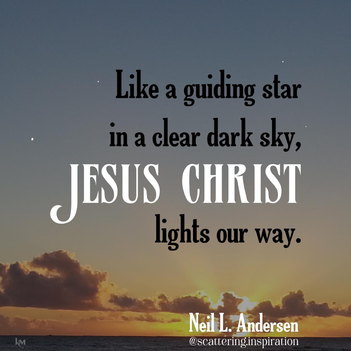 Jesus Christ lights the way