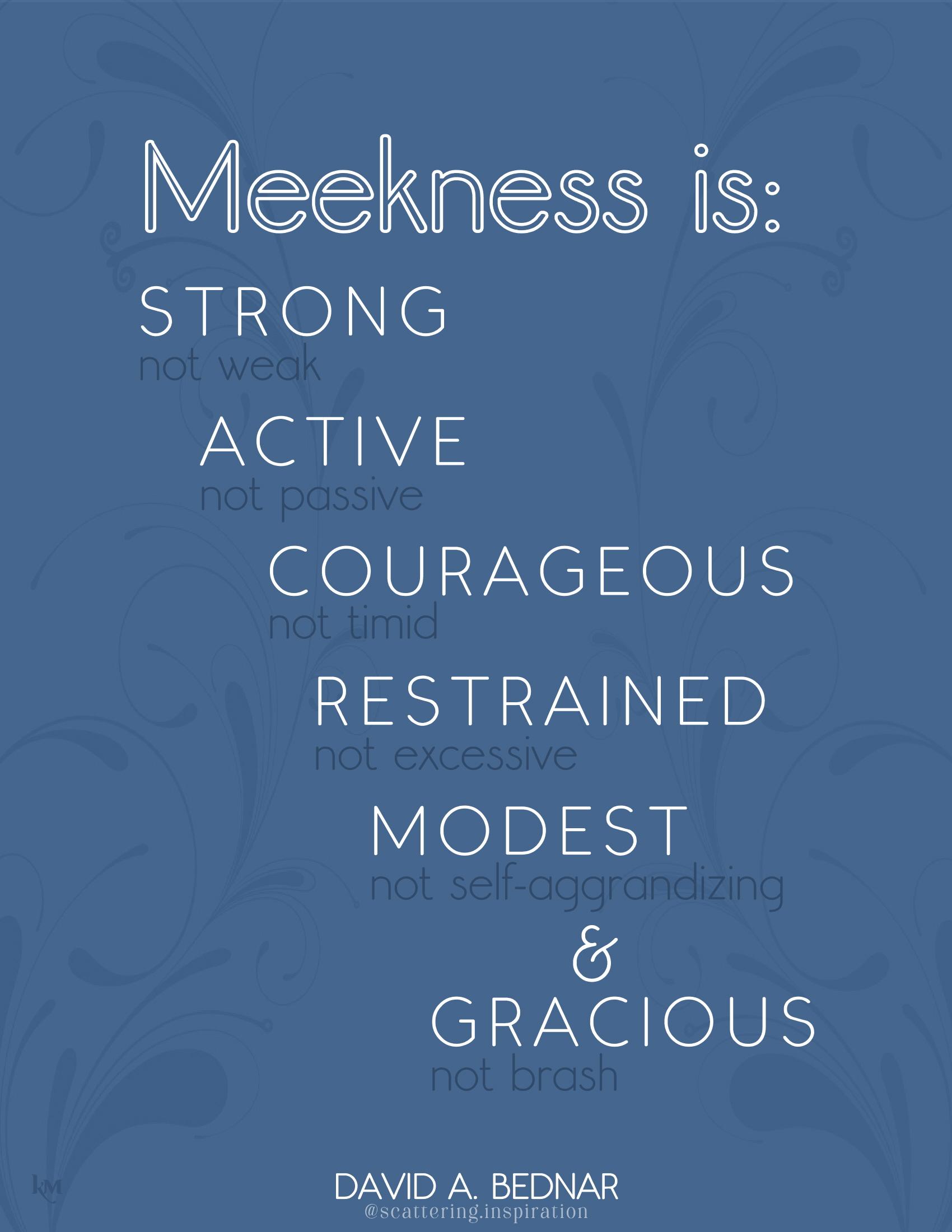 Meekness is