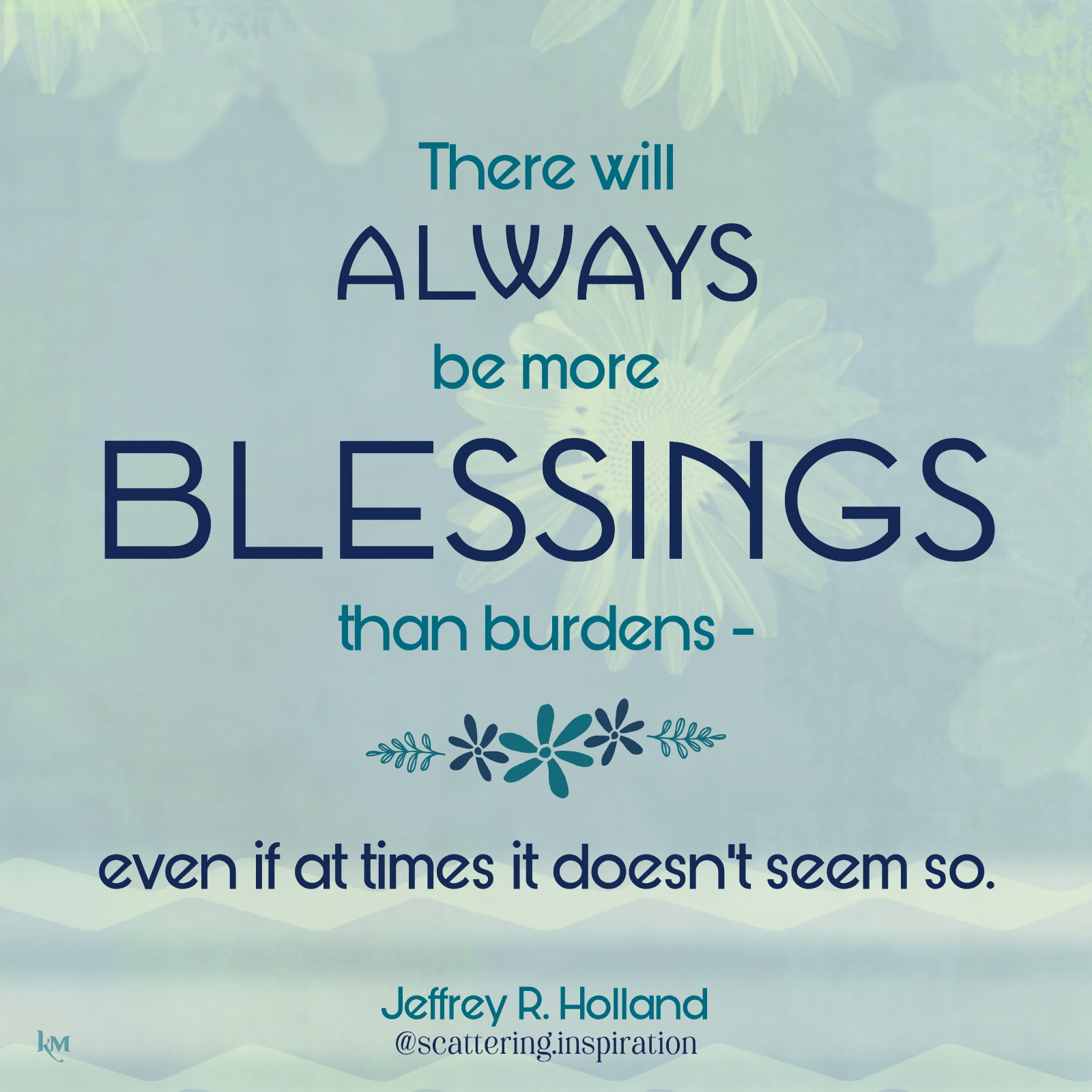 always more blessings