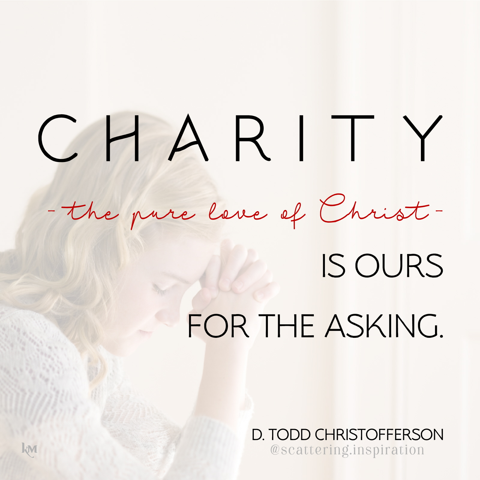 charity is ours for the asking