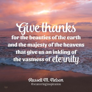 give thanks for