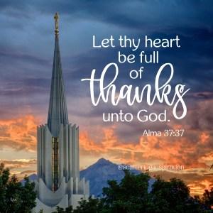 heart full of thanks