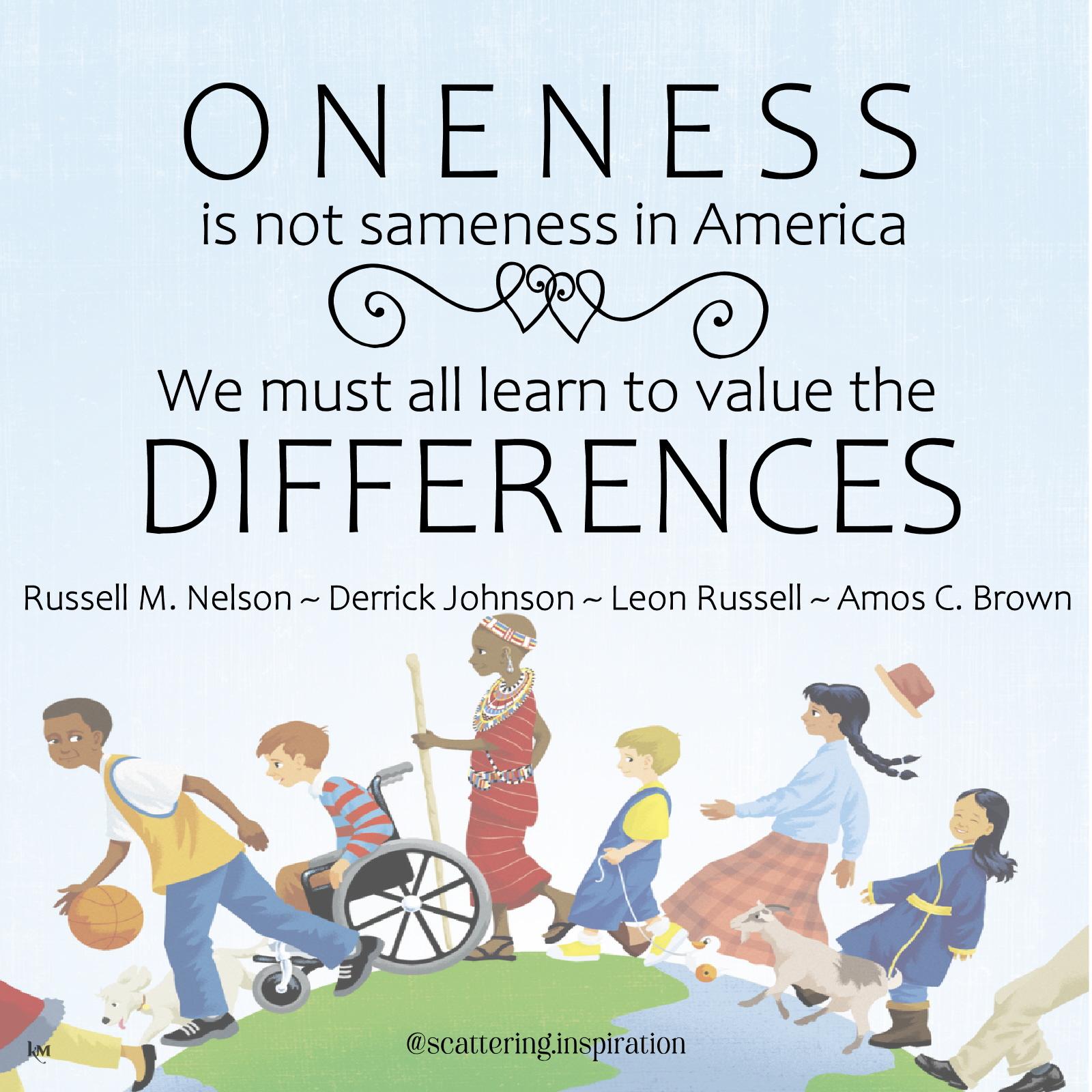 oneness not sameness