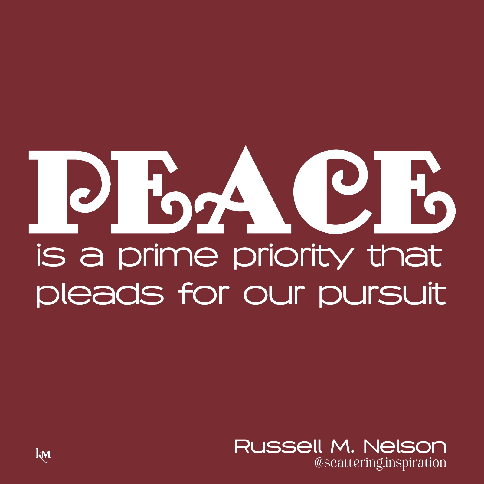 peace is priority