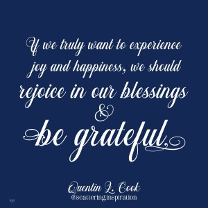 rejoice and be grateful