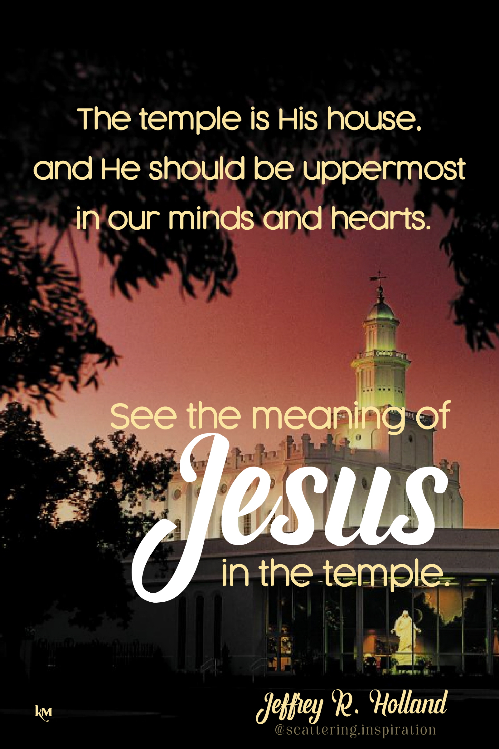 the temple is His house