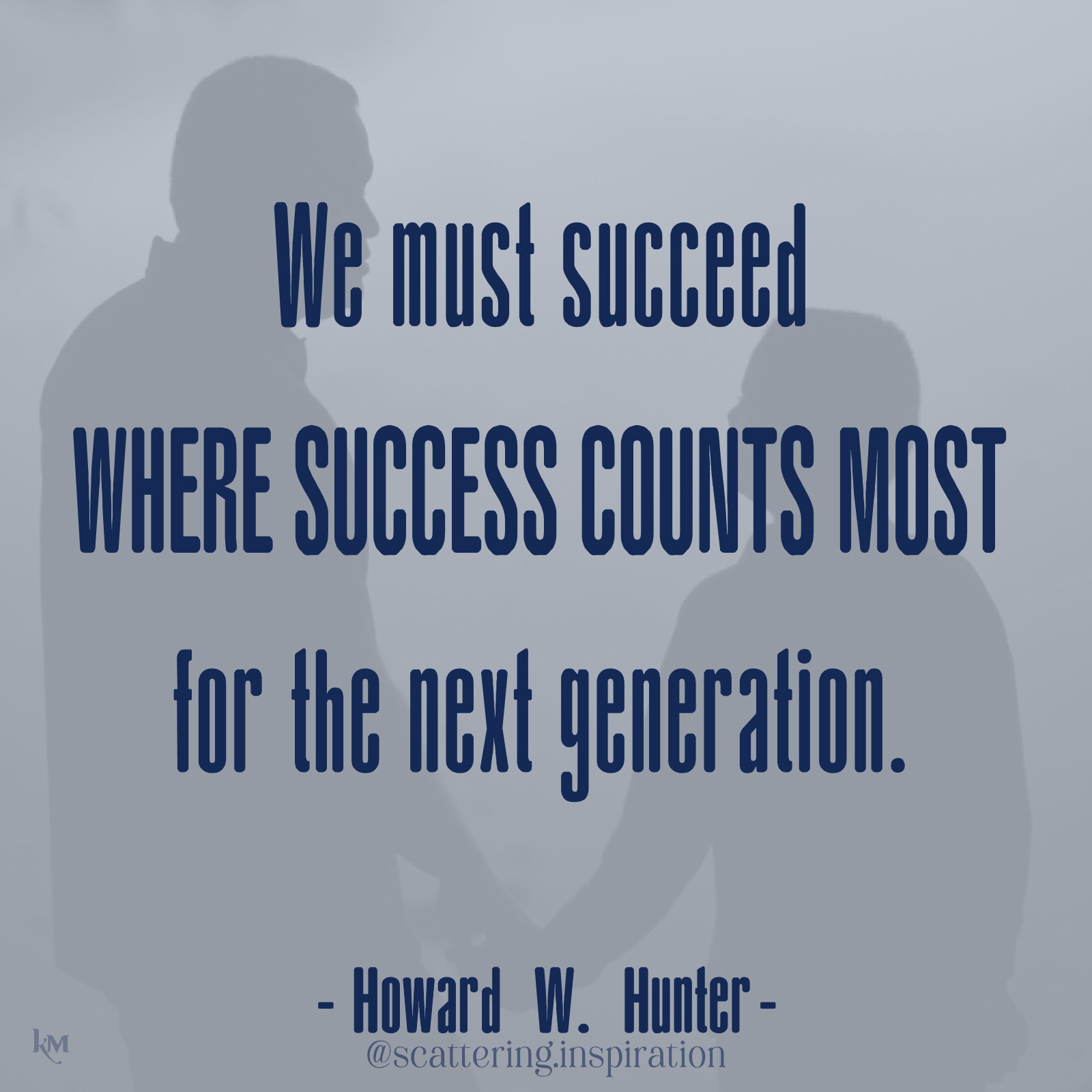 we must succeed