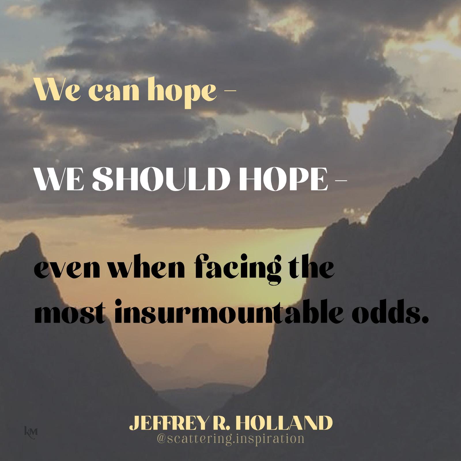 we should hope
