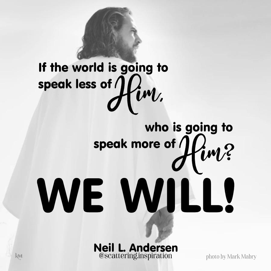 we will!