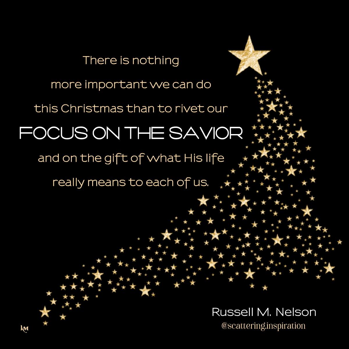 focus on the Savior