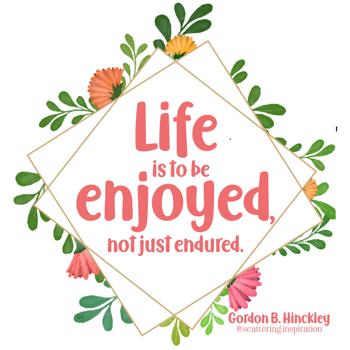 life is to be enjoyed