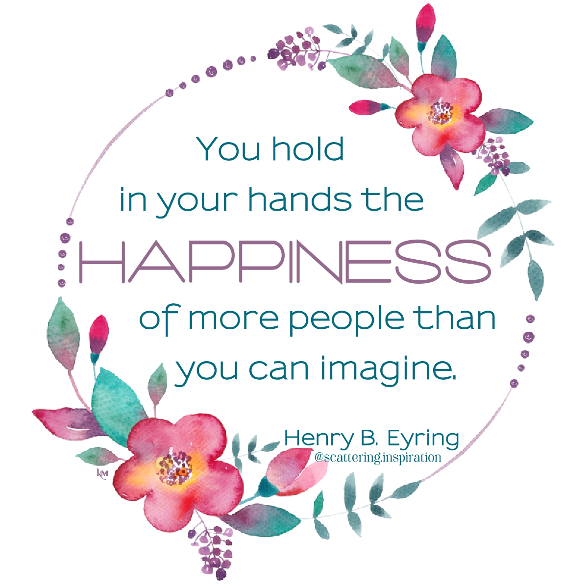 you hold in your hands
