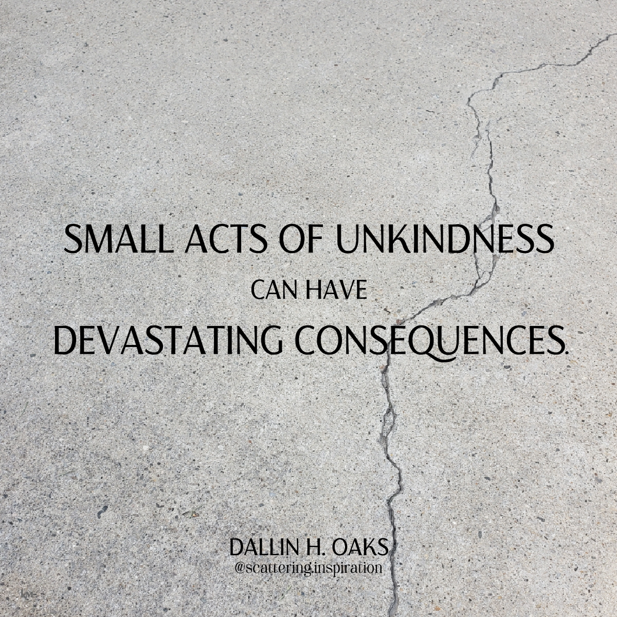 small acts of unkindness