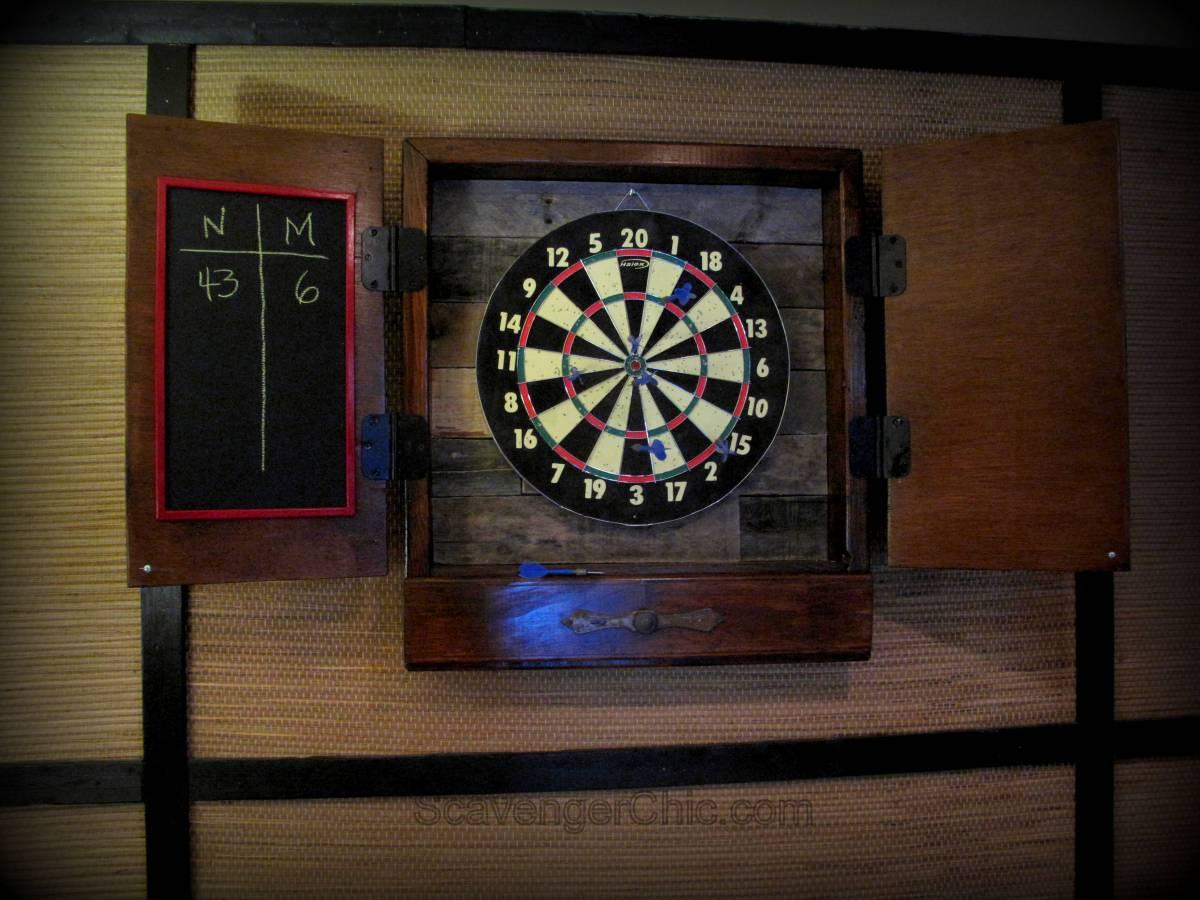 Dartboard Cabinet Diy Scavenger Chic