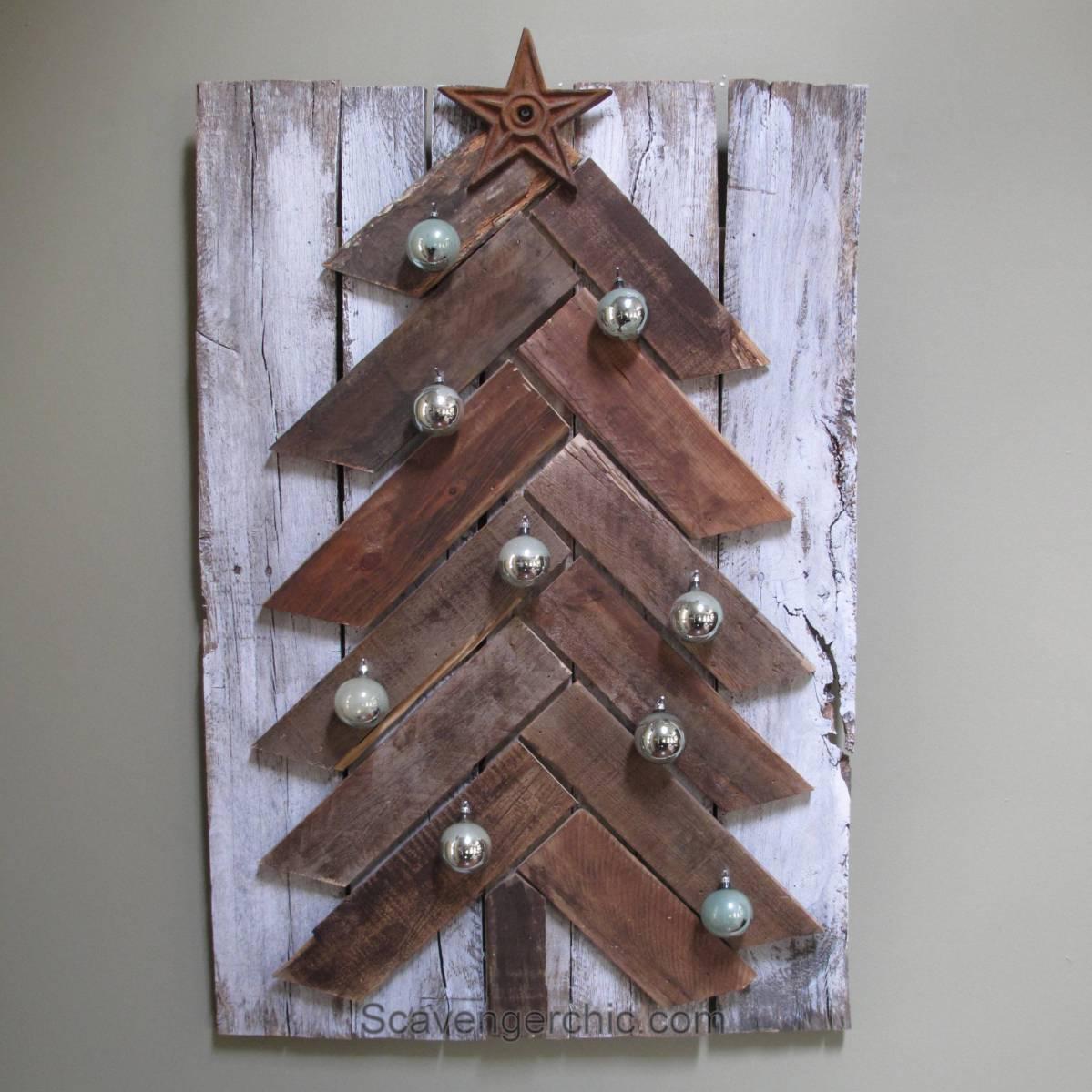 Pallet Wood Christmas Tree Diy