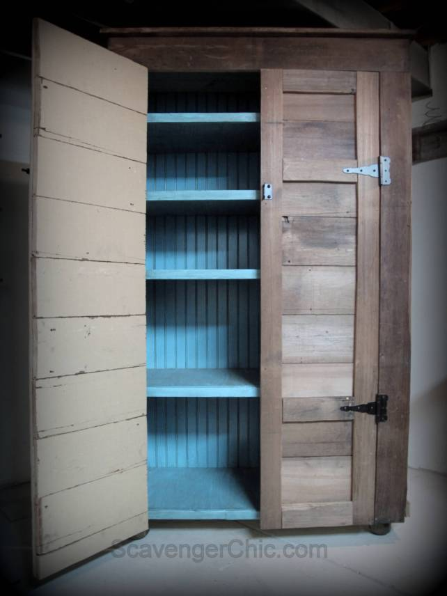 Diy Rustic Storage Cupboard Scavenger Chic