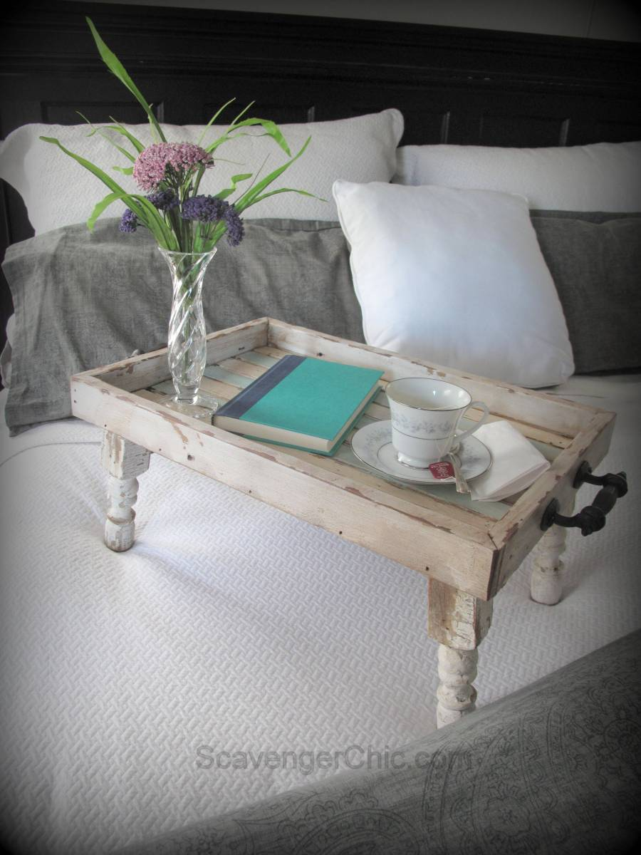 Reclaimed Wood Bed Tray Diy Scavenger Chic