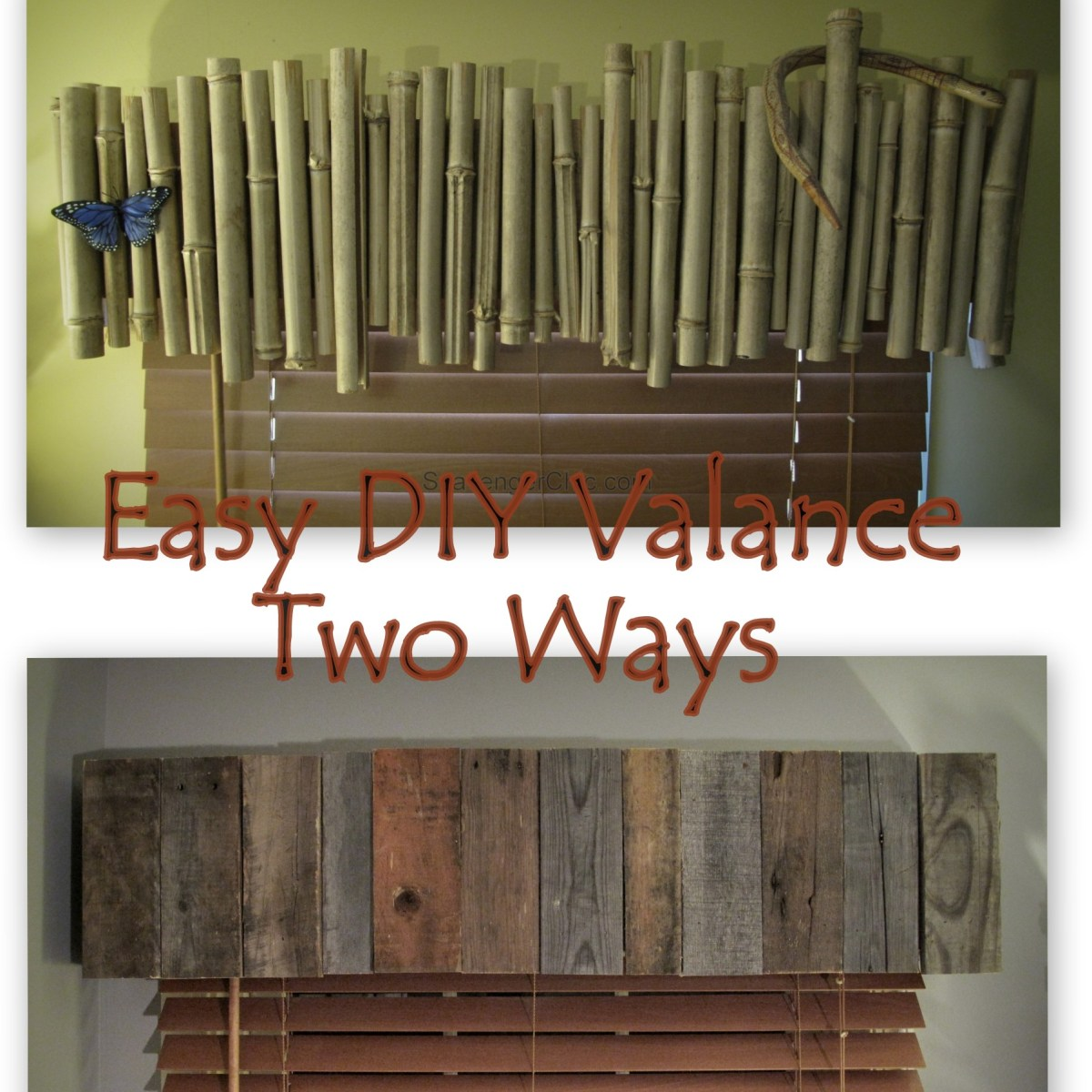 Bamboo Or Pallet Wood Valance Easy Diy Scavenger Chic