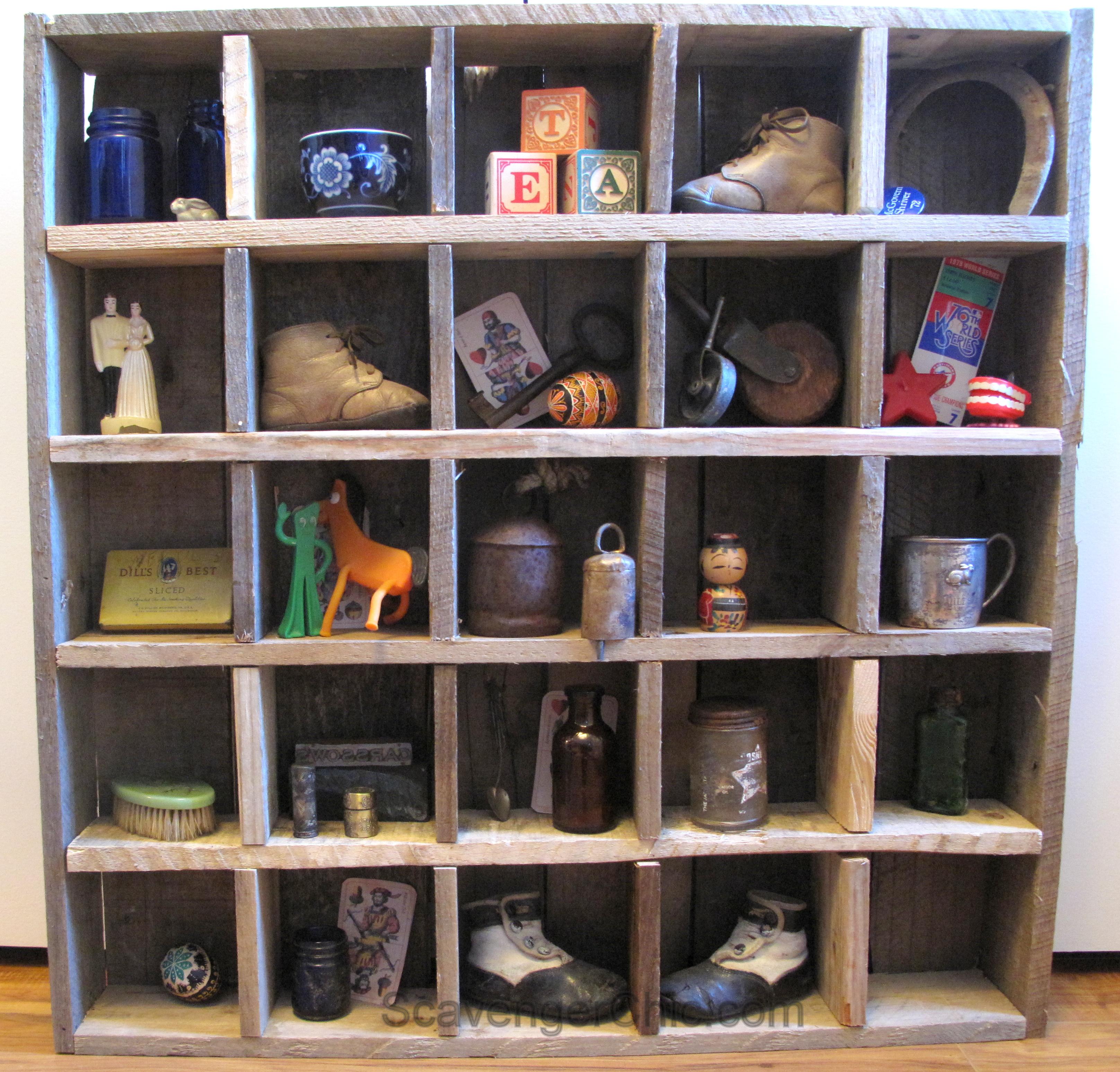 Pallet Wood Cubby Organizer Shelves - Scavenger Chic