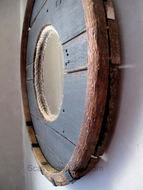 Barrel Hoop Mirror Scavenger Chic
