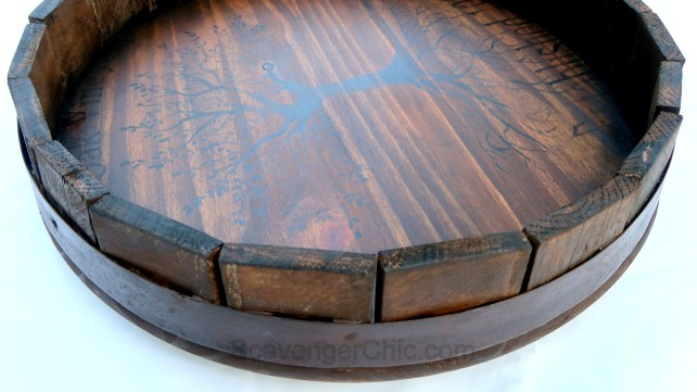 Pottery Barn Inspired Barrel Top Diy Scavenger Chic