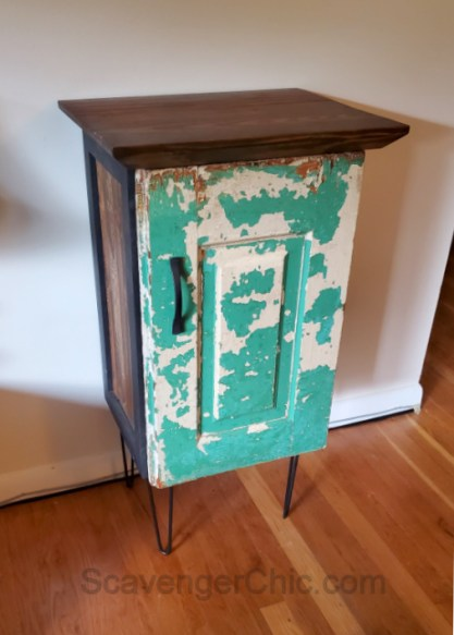 Upcycled Kitchen Cabinet Side Table Scavenger Chic
