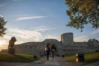 Castillo de Zamora con gente