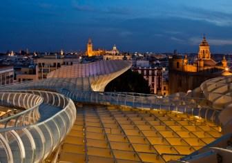 Foto nocturna Sevilla