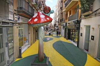 Calle peatonal. Compras Alicante