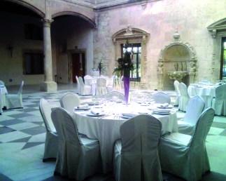 SCB Spain Convention Bureau. Burgos. CAT Cena Gala Claustro Palacio de Saldañuela