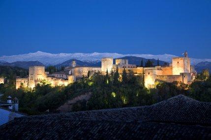 GRANADA. Alhambra. Vista general desde el Albaicín.