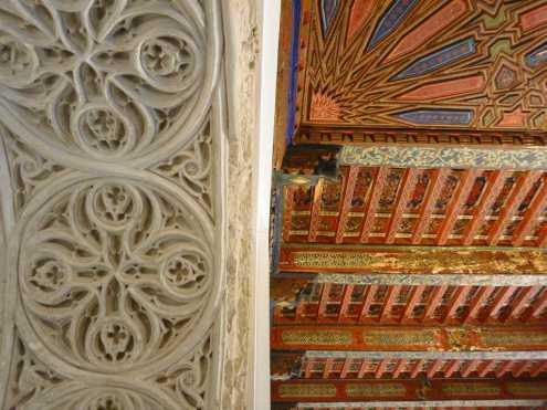 Detalles de yeserías portada mudéjar y del alfarje mudéjar en el interior del Salón Mudéjar.-scb-jaen.jpg