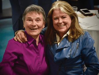 Rosemary Metrailer with SacLEGAL board member Kathi Finnerty