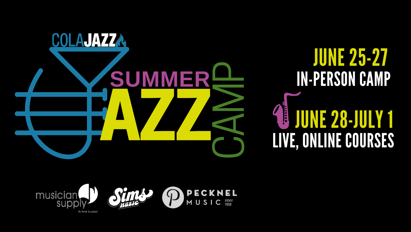 Read more about the article ColaJazz Summer Camp starts Friday, June 25th in Columbia and Online