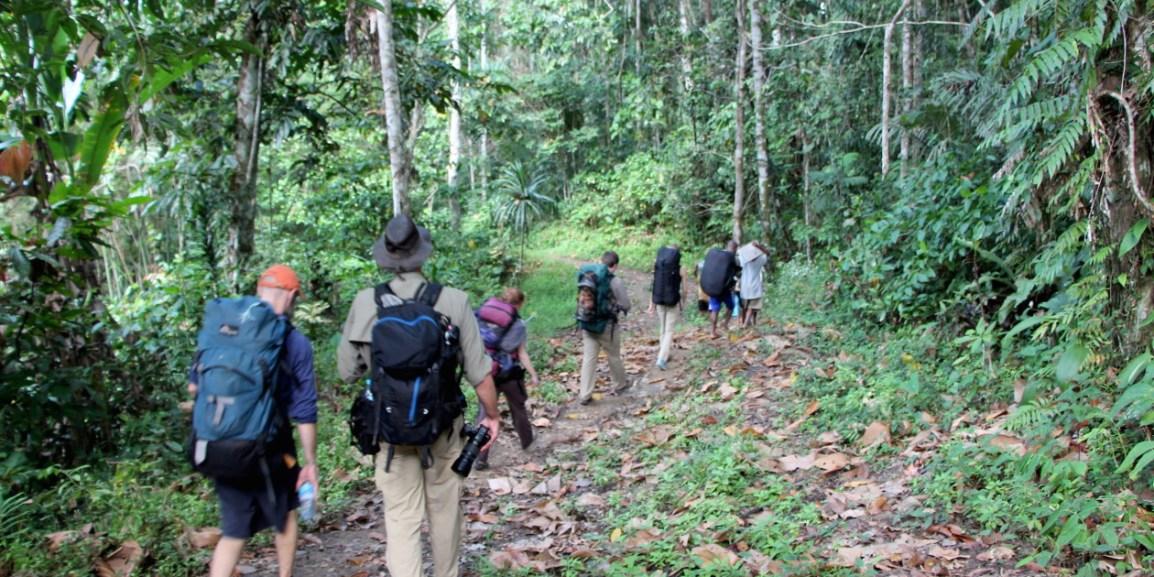 Trekking into Musiamunat. Photo © Justine E. Hausheer / TNC