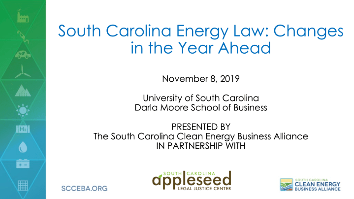 South Carolina Energy Law: Changes in the Year Ahead