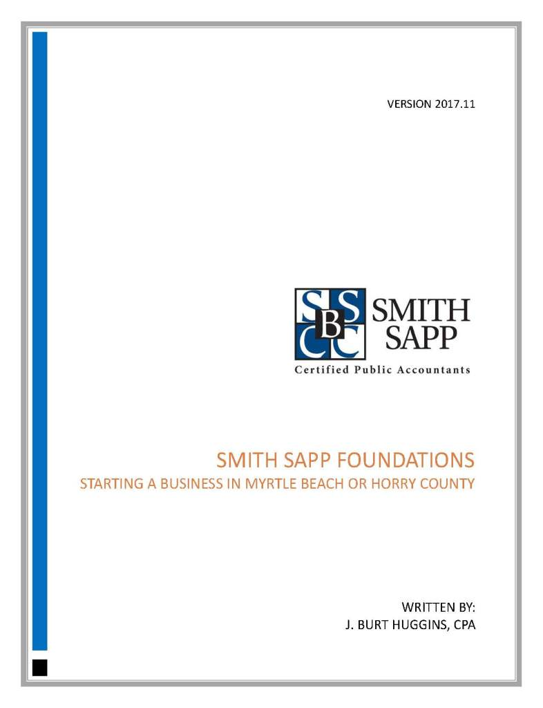 COVER_Smith Sapp Foundations - Starting A Business In Myrtle Beach or Horry County
