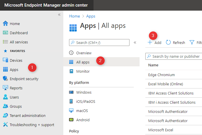 Endpoint Manager Win32 Apps