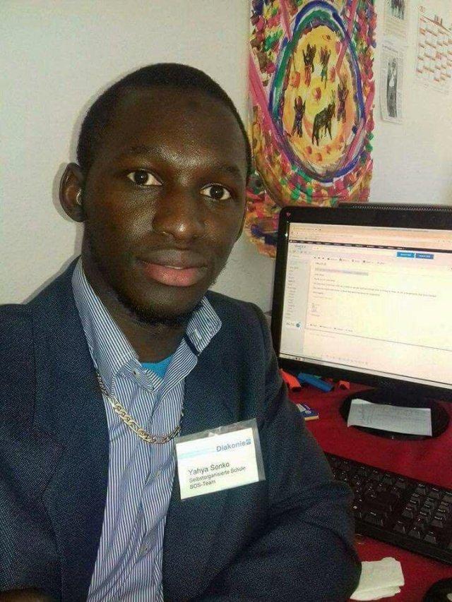 Yahya, representing his SOS project Photo Credit: Y. Sonko