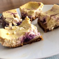 SCD Recipe: Lemon Blueberry Swirl Cheesecake Bars