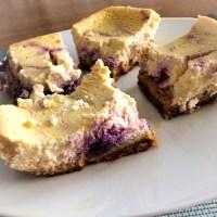 SCD Recipe: Lemon Blueberry Swirl Cheesecake Bars