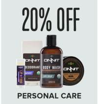 Save 20% on Personal Care