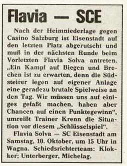 SCE v Flavia 1987 V