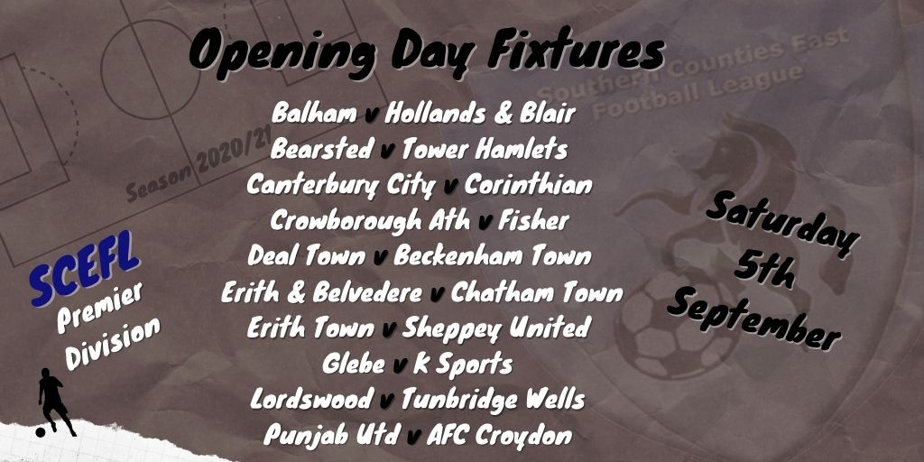 scefl premier division opening day fixtures